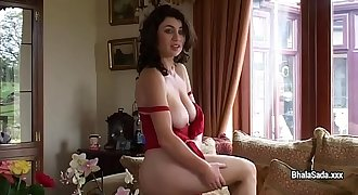 Amazing model Bhala Sada undresses and does striptease demonstrate