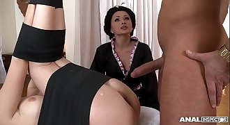 Japanese Type Anal invasion Threesome With Geishas Ivana Sugar And Alice