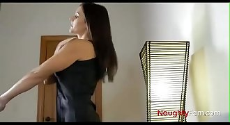 Horny milf Mom share bed with son - FREE Family Videos at NaughtyFam.com