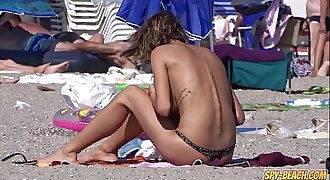 Unexperienced Young Gorgeous Topless Teens Beach Voyeur Close Up Video