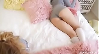 Cute ever sleeping Babysitter get well fucked and pussy licking