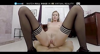 BaDoinkVR POV Office Fuck With Hot Blonde Haley Reed